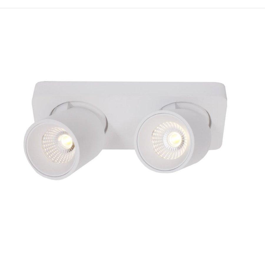 Kantelbare, draaibare en dimbare 2-lichts plafondlamp Laguna met geïntegreerde LED