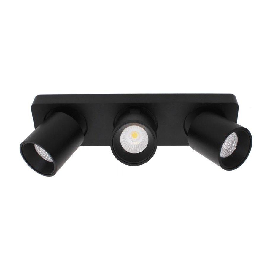Kantelbare, draaibare en dimbare 3-lichts opbouwspot Laguna met geïntegreerde LED