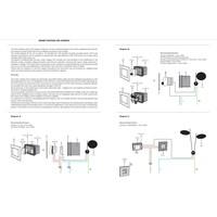 Dimbare Wandlamp Lederam W 17 met geïntegreerde LED
