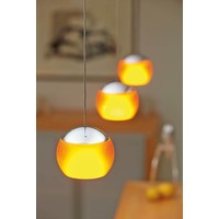 In hoogte verstelbare en dimbare 1-lichts Hanglamp Balino met geïntegreerde LED