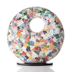 VillaFlor Tafellamp Glass Multi Color Donut