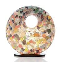 Tafellamp Glass Multi Color Donut