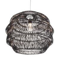Hanglamp Rattan Artichoke - Zwart
