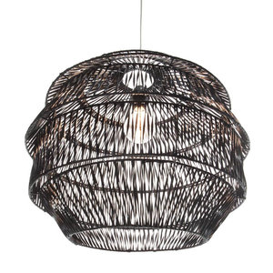 VillaFlor Hanglamp Rattan Artichoke - Zwart