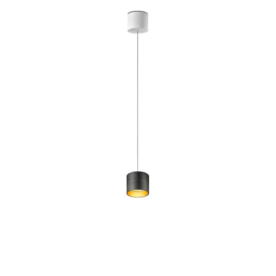 In hoogte verstelbare en dimbare 1-lichts Hanglamp Tudor S met geïntegreerde LED