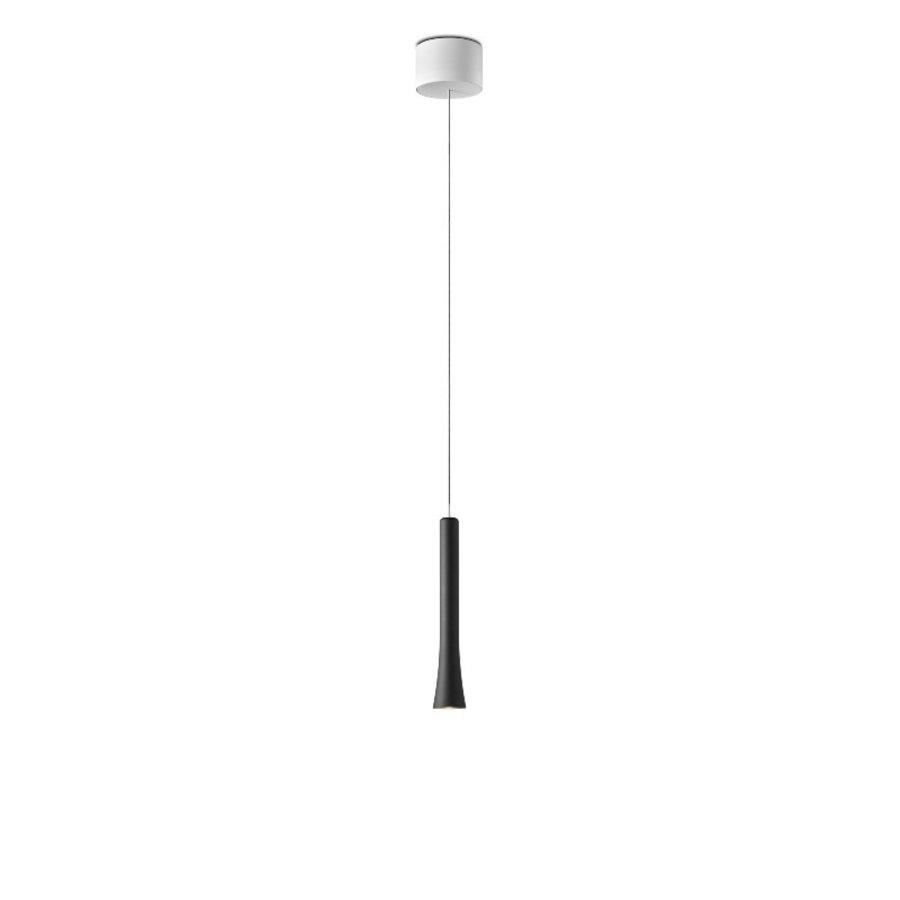 In hoogte verstelbare en dimbare 1-lichts Hanglamp Rio met geïntegreerde LED