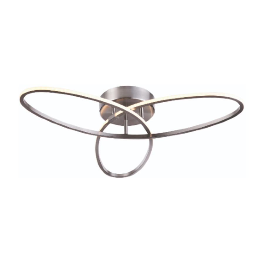 3-staps dimbare plafondlamp Spike met geïntegreerde LED - staal