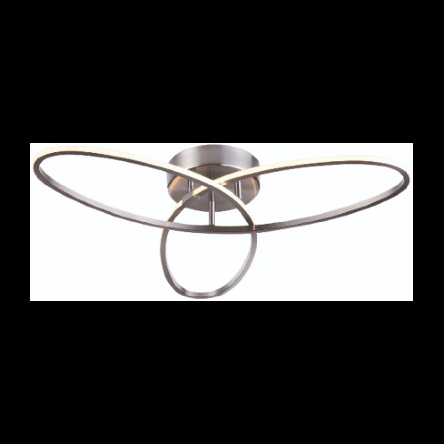 3-staps dimbare plafondlamp Spike Staal met geïntegreerde LED