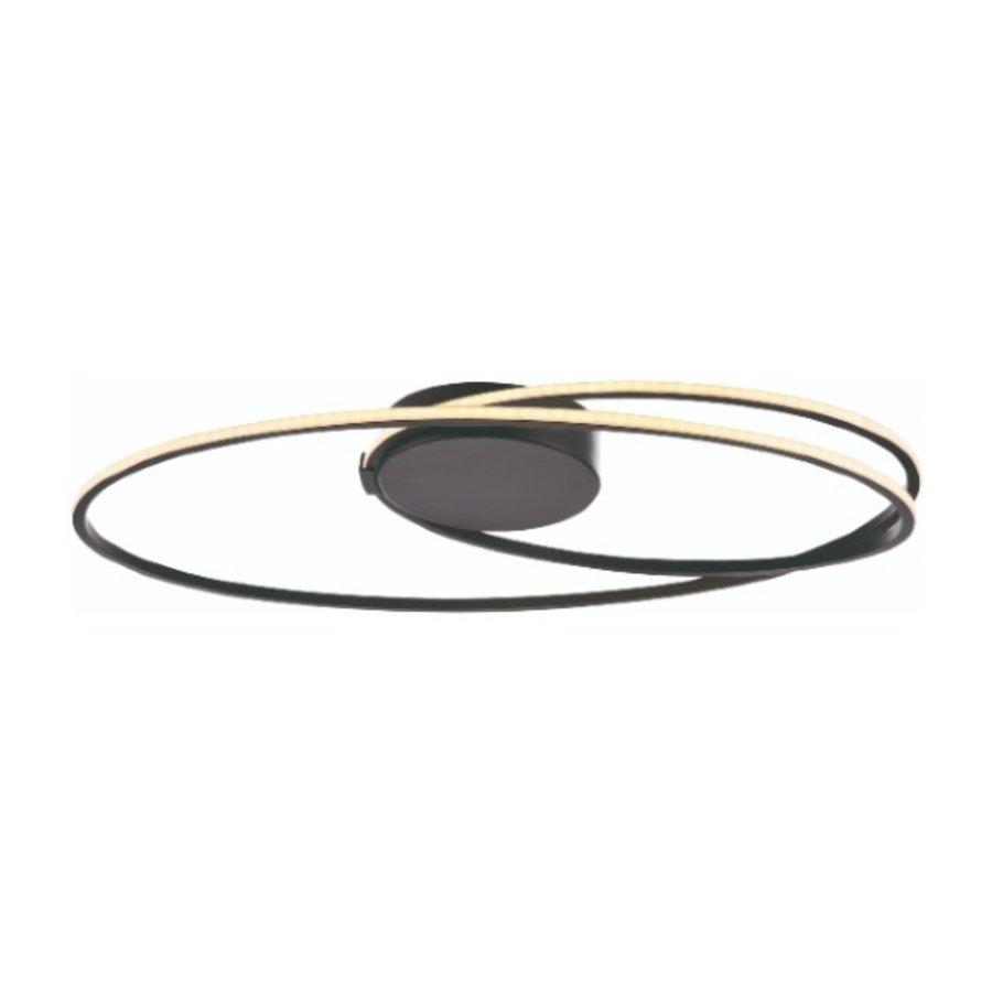 3-staps dimbare plafondlamp Ophelia met geïntegreerde LED (26 Watt) - zwart