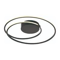 3-staps dimbare plafondlamp Ophelia met geïntegreerde LED (24 Watt) - zwart