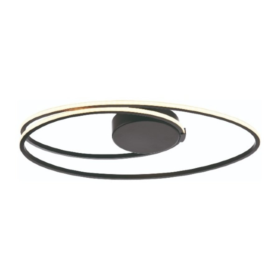 3-staps dimbare plafondlamp Ophelia met geïntegreerde LED (21 Watt) - zwart