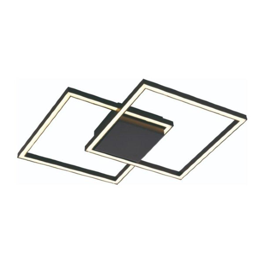 3-staps dimbare plafondlamp Falcon Zwart met geïntegreerde LED