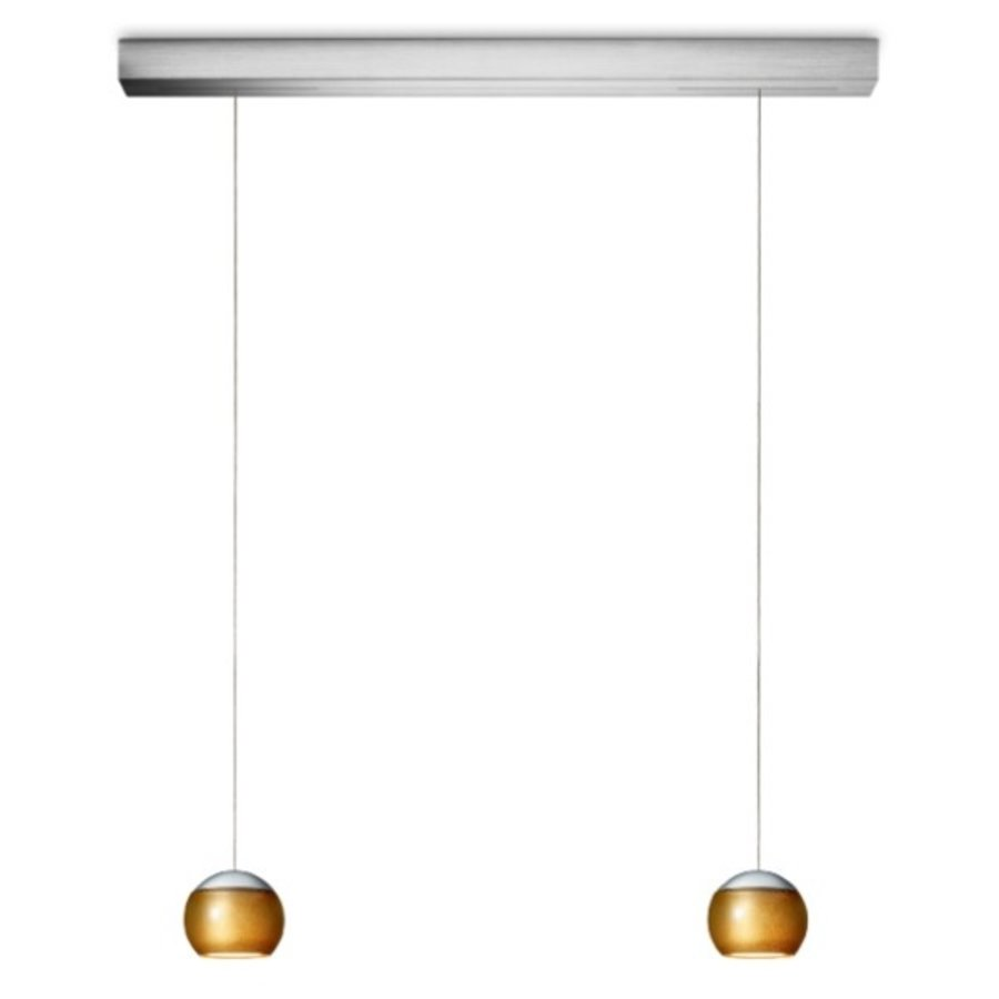 Dimbare 2-lichts hanglamp Balino met geïntegreerde LED