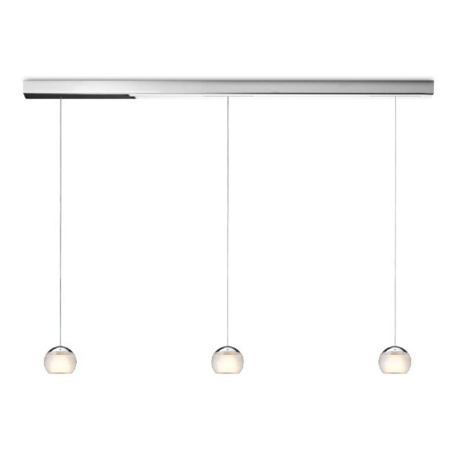 Dimbare 3-lichts Hanglamp Balino met geïntegreerde LED