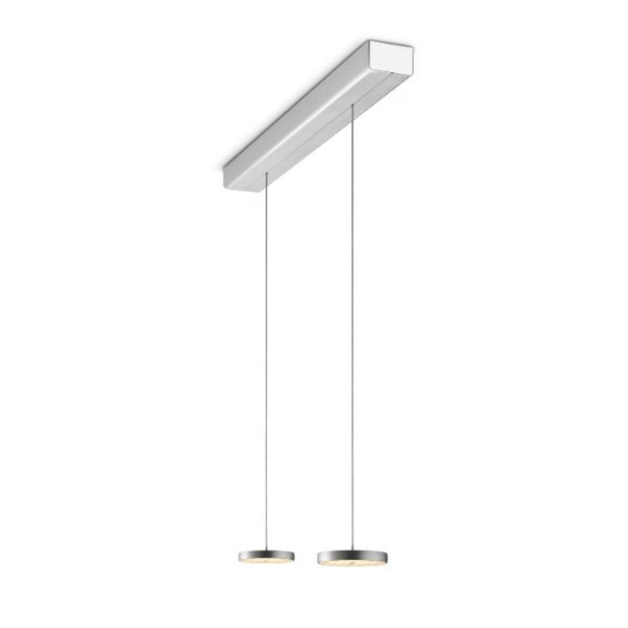 In hoogte verstelbare en dimbare 2-lichts Hanglamp Decent met geïntegreerde LED