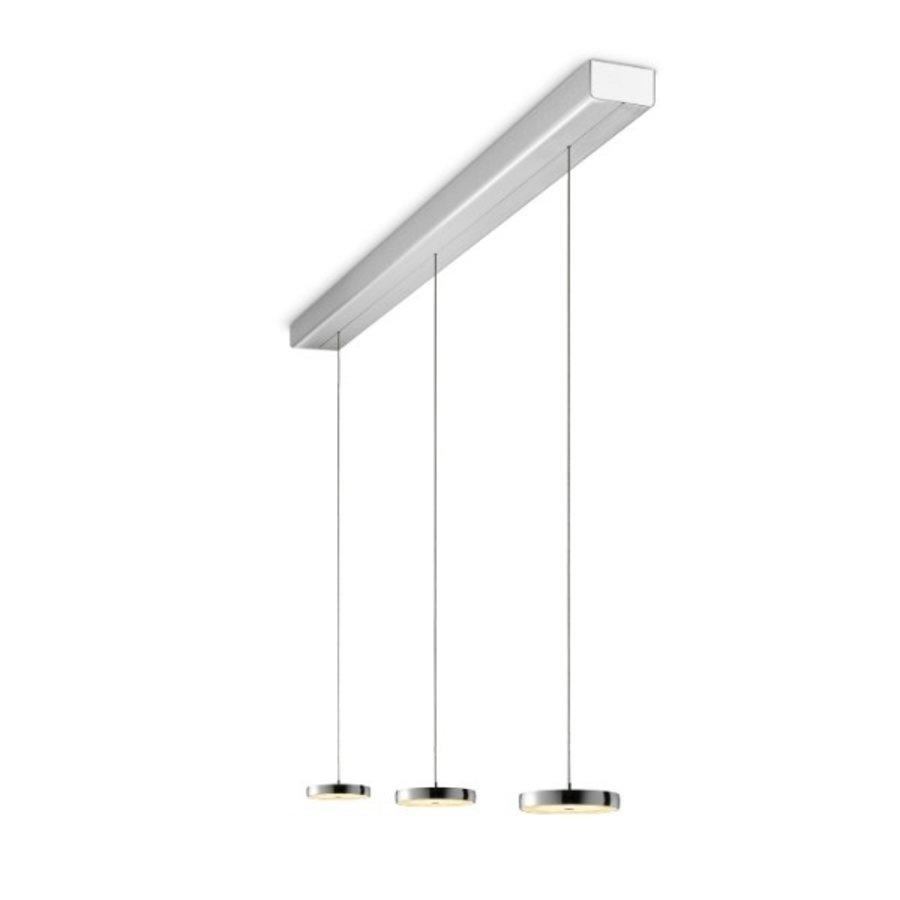 In hoogte verstelbare en dimbare 3-lichts hanglamp Decent met geïntegreerde LED