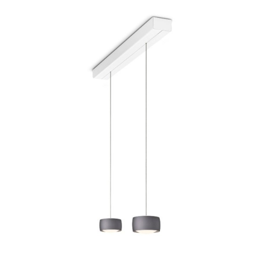 In hoogte verstelbare en dimbare 2-lichts Hanglamp Grace met geïntegreerde LED