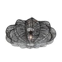 Hanglamp Rattan Star Zwart
