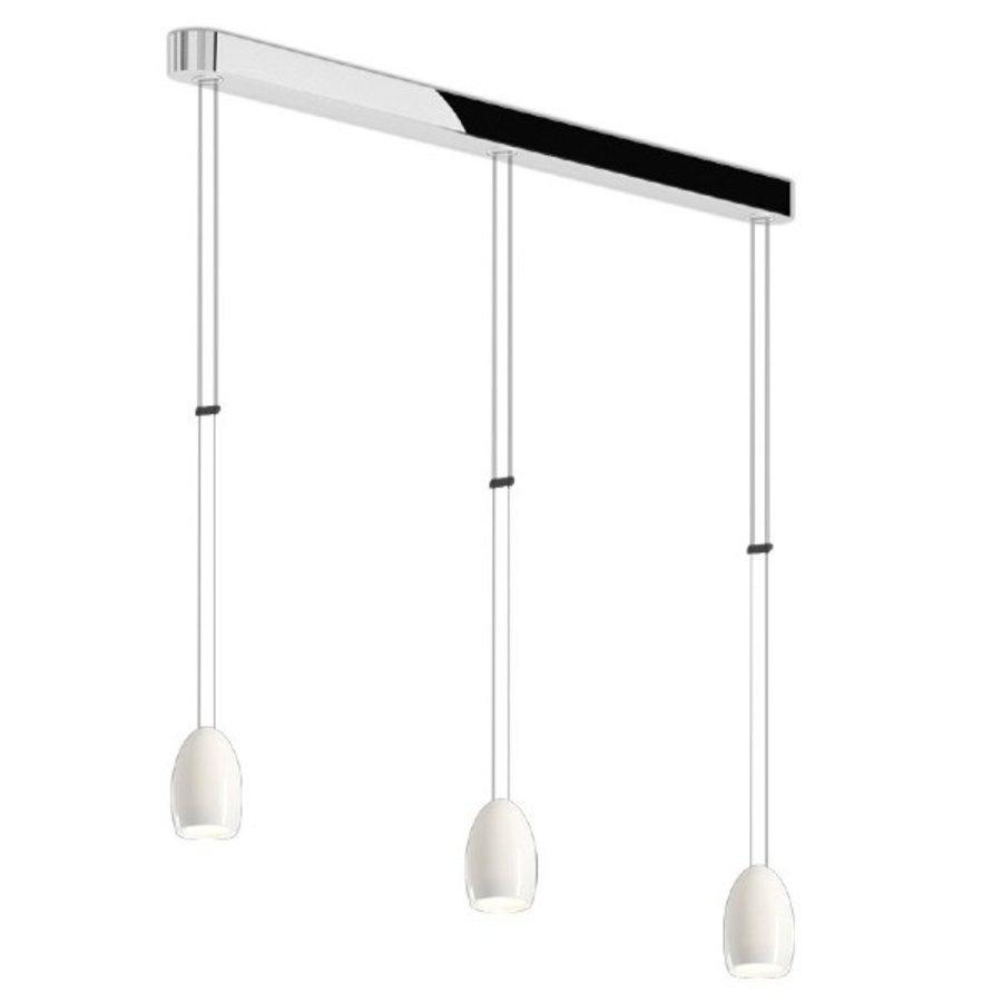 In hoogte verstelbare + Dimbare 3-lichts Hanglamp Oh met geïntegreerde LED