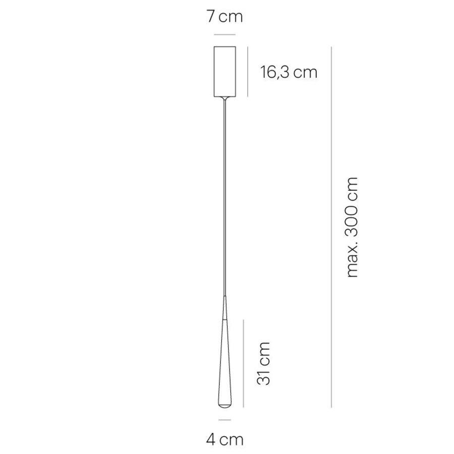 Dimbare (Dim to Warm) 1-lichts hanglamp Niceone met geïntegreerde LED