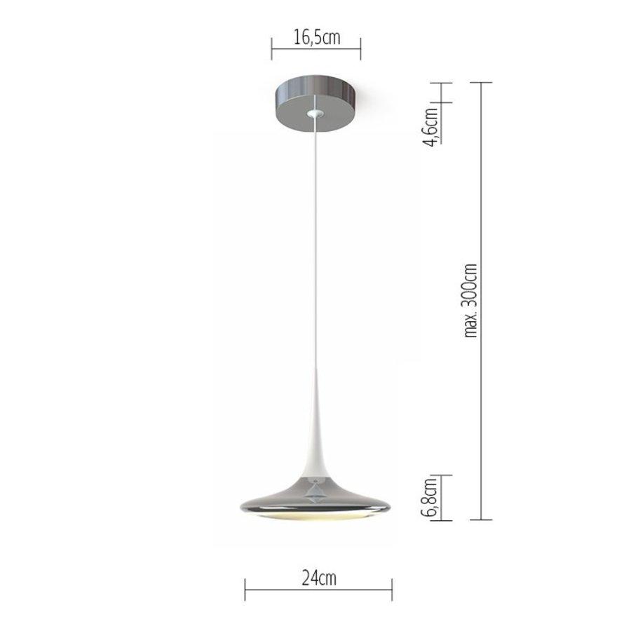Dimbare (Dim to Warm) 1-lichts hanglamp Falling Leaf met geïntegreerde LED