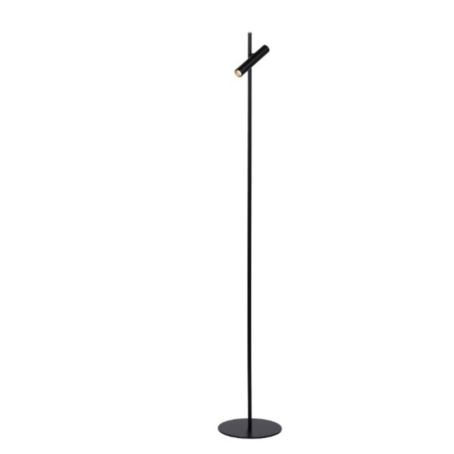 Dimbare 1-lichts vloerlamp Philon met geïntegreerde LED