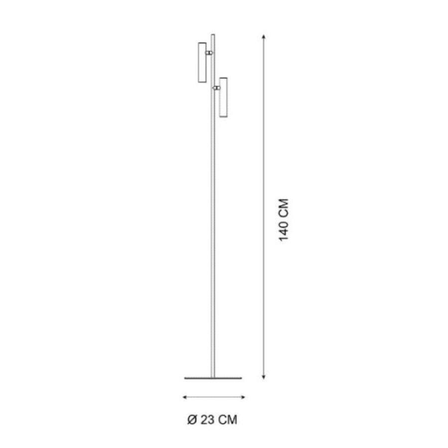 Dimbare 2-lichts vloerlamp Philon met geïntegreerde LED