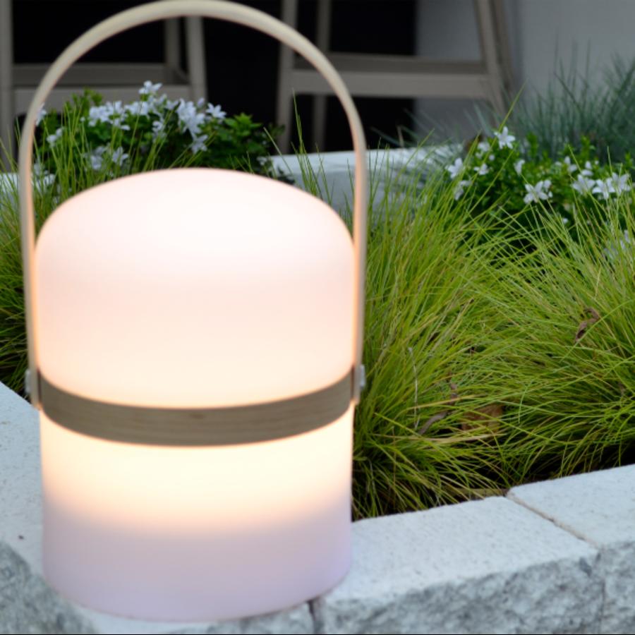 Oplaadbare tafellamp voor buiten Joe met geïntegreerde LED