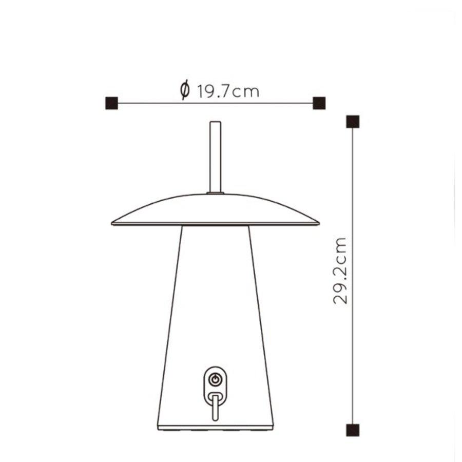 Oplaadbare en Dimbare Tafellamp voor buiten La Donna met geïntegreerde LED