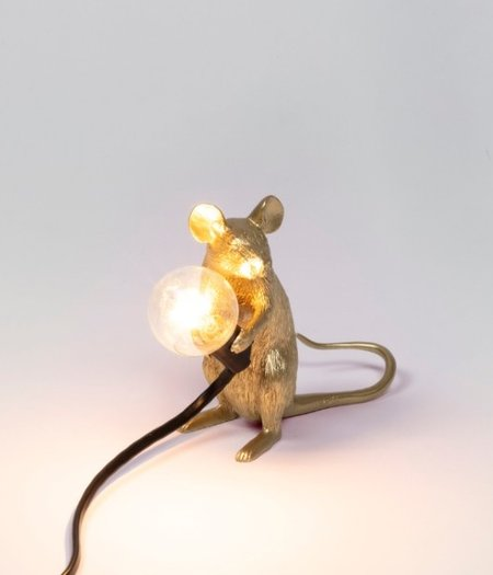 Mouse Lamp Mac Gold