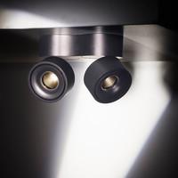 Kantelbare en dimbare 2-lichts Plafondlamp Easy W2100 met geïntegreerde LED