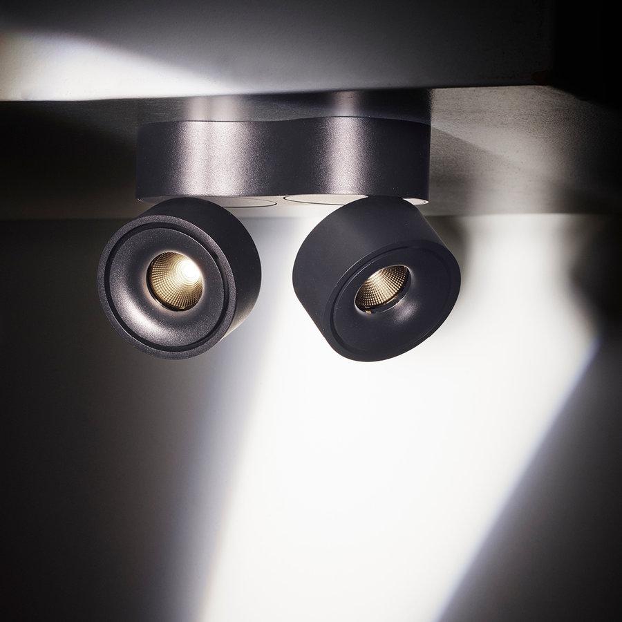 Kantelbare en dimbare 2-lichts opbouwspot Easy W2100 met geïntegreerde LED