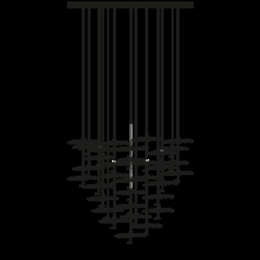 Dimbare 20-lichts hanglamp Gold Moon Chandelier met geïntegreerde LED