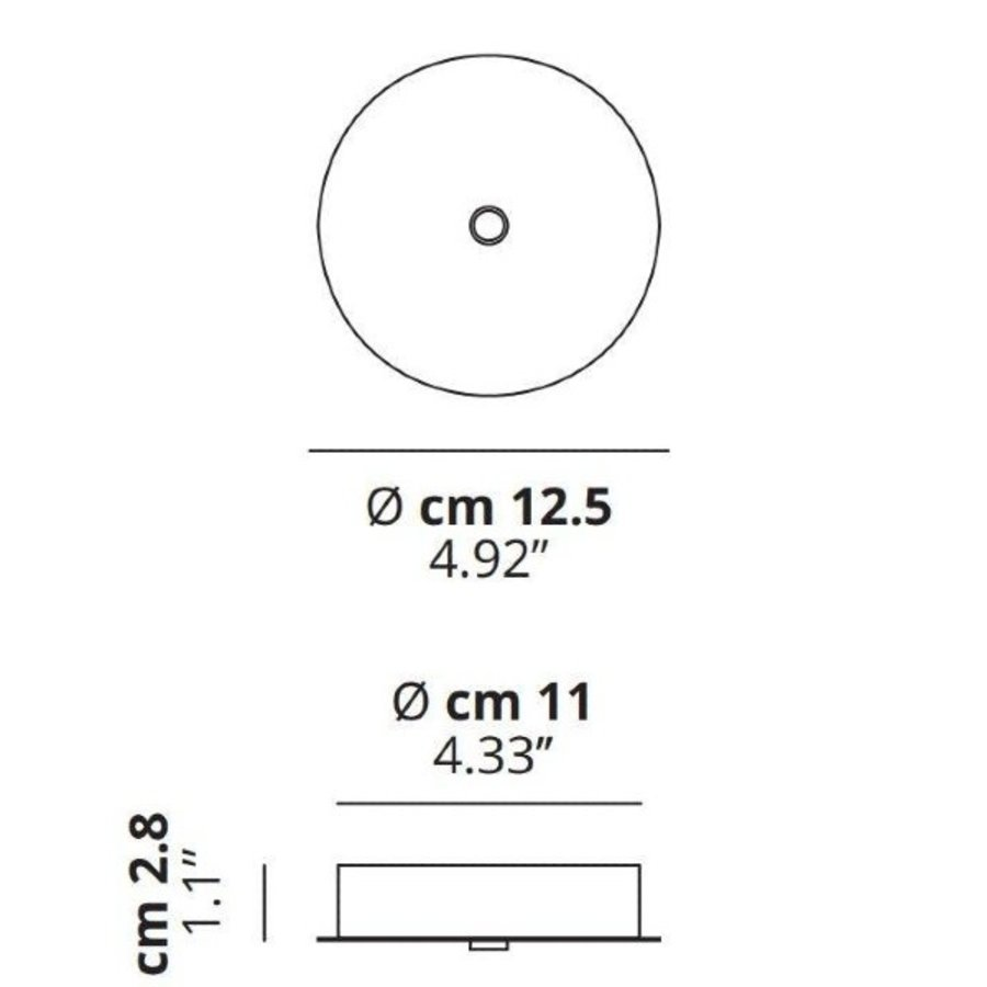 Plafondcup Single Standaard