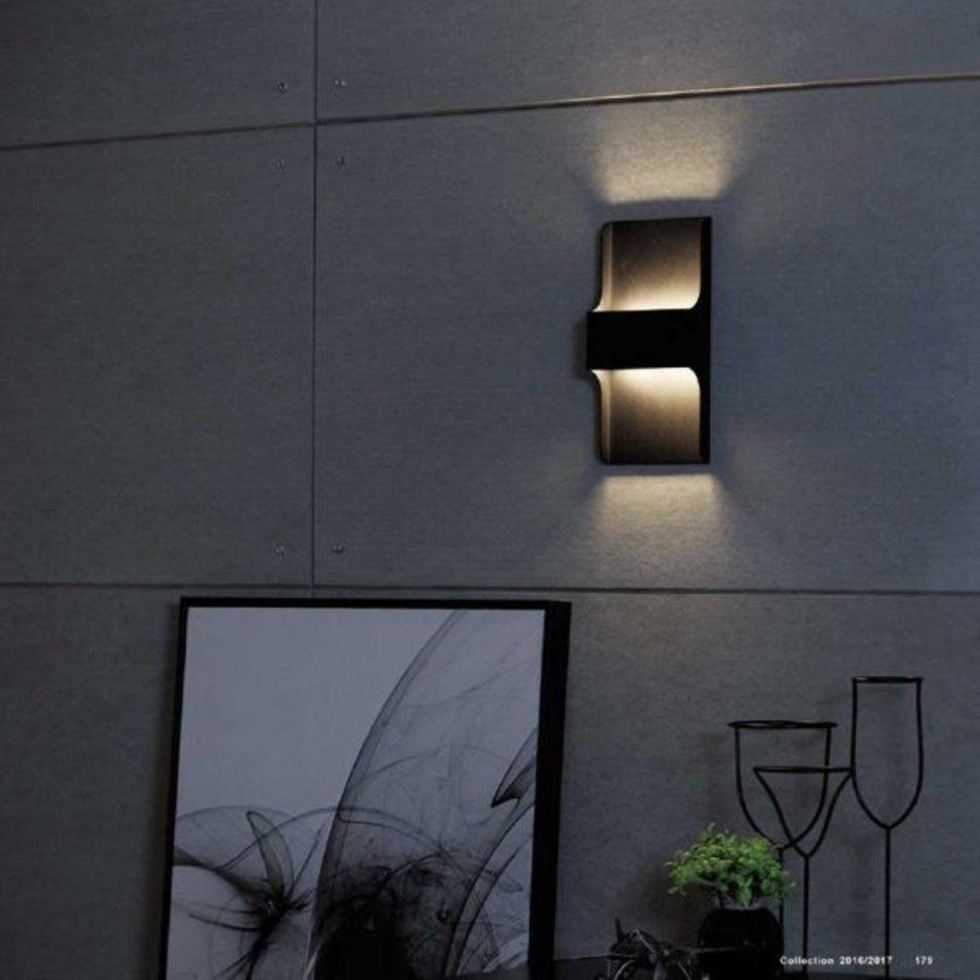 Dimbare in- en outdoor wandlamp Dallas met geïntegreerde LED