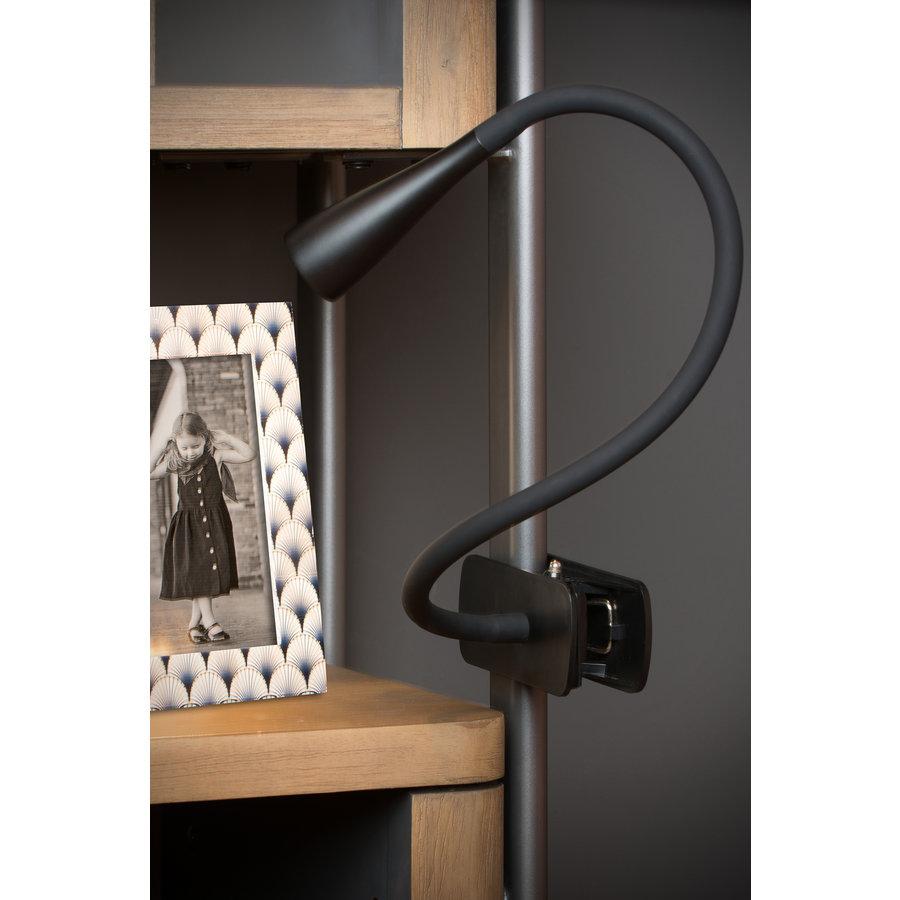 3-staps dimbare klemlamp Zozy met geïntegreerde LED