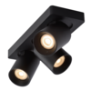 Lucide Dimbare (Dim to Warm) 3-lichts Plafondspot Nigel