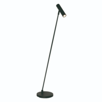 Dimbare vloerlamp Arletta Zwart met geïntegreerde LED