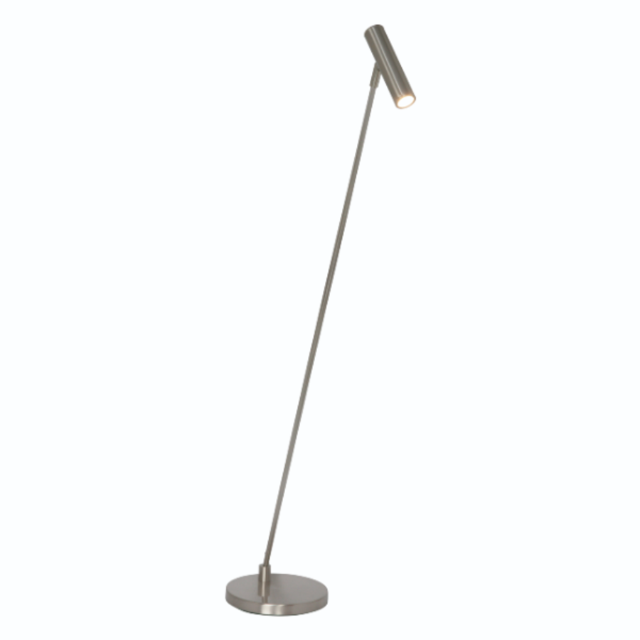 Dimbare Vloerlamp Arletta Staal met geïntegreerde LED