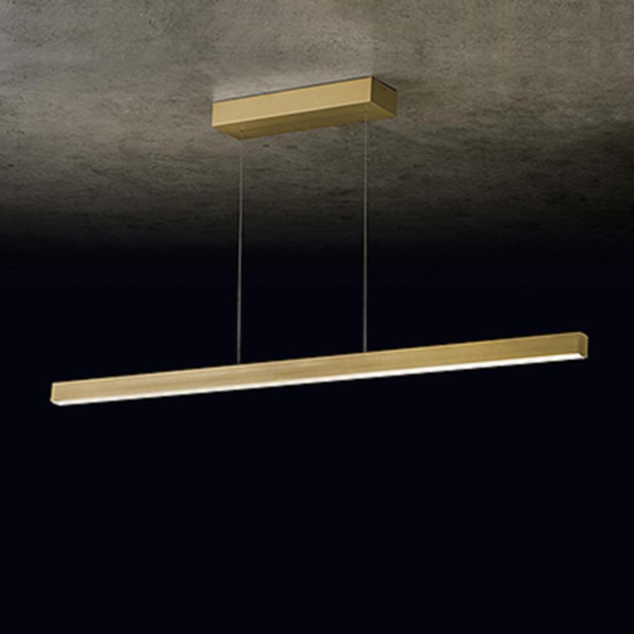 In hoogte verstelbare + dimbare (Dim to Warm) hanglamp Xena L met geïntegreerde LED - Lengte 160 cm
