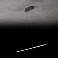 Dimbare (Dim to Warm) + in hoogte verstelbare hanglamp Epsilon RR met geïntegreerde LED - L 123 cm