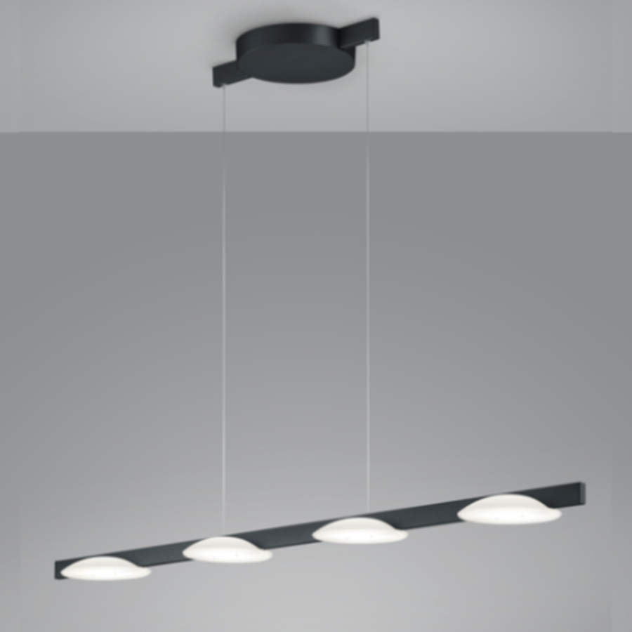 Dimbare 4-lichts hanglamp Pole met geïntegreerde LED