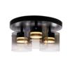 Highlight Dimbare 3-lichts plafondlamp Salerno met geïntegreerde LED