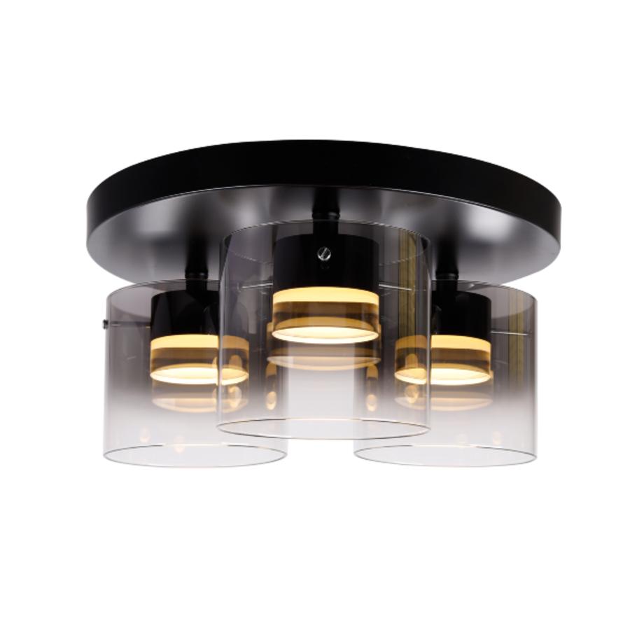 Dimbare 3-lichts plafondlamp Salerno met geïntegreerde LED