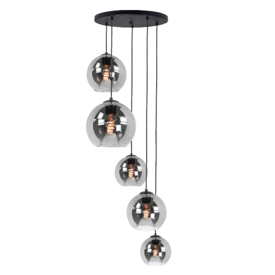 5-lichts hanglamp Fantasy Globe