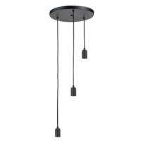 3-lichts ronde plafondpendel zwart