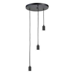 Highlight 3-lichts ronde plafondpendel zwart