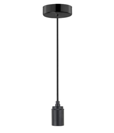 1-lichts ronde plafondpendel zwart