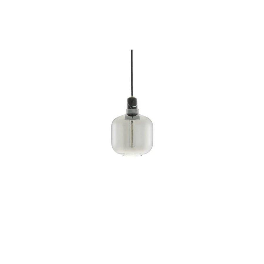 Hanglamp Amp Small - Rookgrijs/zwart