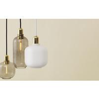 Hanglamp Amp Large - Rookgrijs/goud